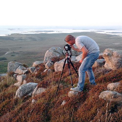 Dan Guerin, photographer on location